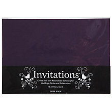 Buy John Lewis Menu Cards, A4, Pack of 10 Online at johnlewis.com