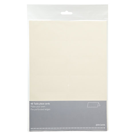 Buy John Lewis Table Place Cards, Pack of 48 Online at johnlewis.com