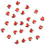 Heart Embellishments, Red, Pack of 30