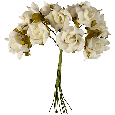 Buy John Lewis Foam Roses, Large, Pack of 12 Online at johnlewis.com