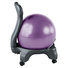Buy Gaiam Balanceball Chair, Purple Online at johnlewis.com
