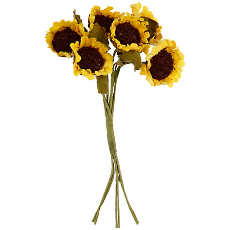 Buy John Lewis Paper Sunflowers, Pack of 6 Online at johnlewis.com
