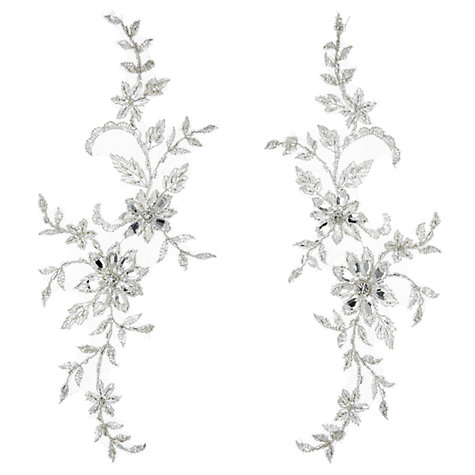 Buy John Lewis Crystal and Beads Applique Tulles, Pack of 2 Online at johnlewis.com
