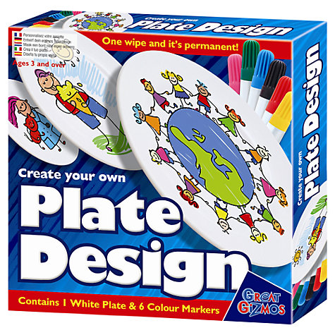 Buy Create Your Own Plate Design Kit Online at johnlewis.com