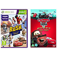 Buy Kinect Rush, Xbox 360 with Mater's Tall Tales DVD Online at johnlewis.com