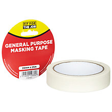 Buy Fit For The Job DIY General Purpose Masking Tape, L25m Online at johnlewis.com