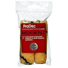 "Buy ProDec DIY Emulsion Mini 4"" / 10.15cm Roller Head Refill, Pack of 2 Online at johnlewis.com"