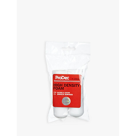 "Buy ProDec DIY Gloss And Satin High Density Mini 4"" / 10.15cm Roller Head Refill, Pack of 2 Online at johnlewis.com"