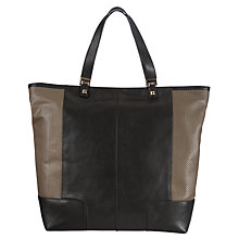 Buy COLLECTION by John Lewis Large Perforated Leather Shopper Handbag, Black Online at johnlewis.com