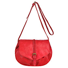 Buy Collection WEEKEND by John Lewis Hair-On Acrossbody Handbag, Red Online at johnlewis.com