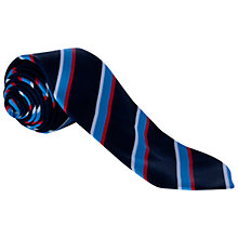 Buy Sherborne House School Tie, Blue/White/Red Online at johnlewis.com