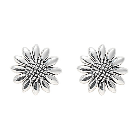 Buy Nina Breddal Daisy Flower Stud Earrings, Silver Online at johnlewis.com