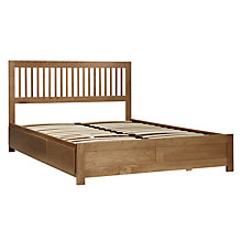 Buy John Lewis Camden Storage Bed, Oak, Kingsize Online at johnlewis.com