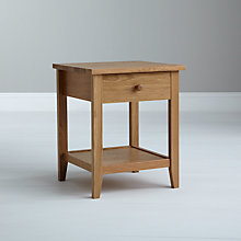 Buy John Lewis Camden 1 Drawer Bedside Table Online at johnlewis.com