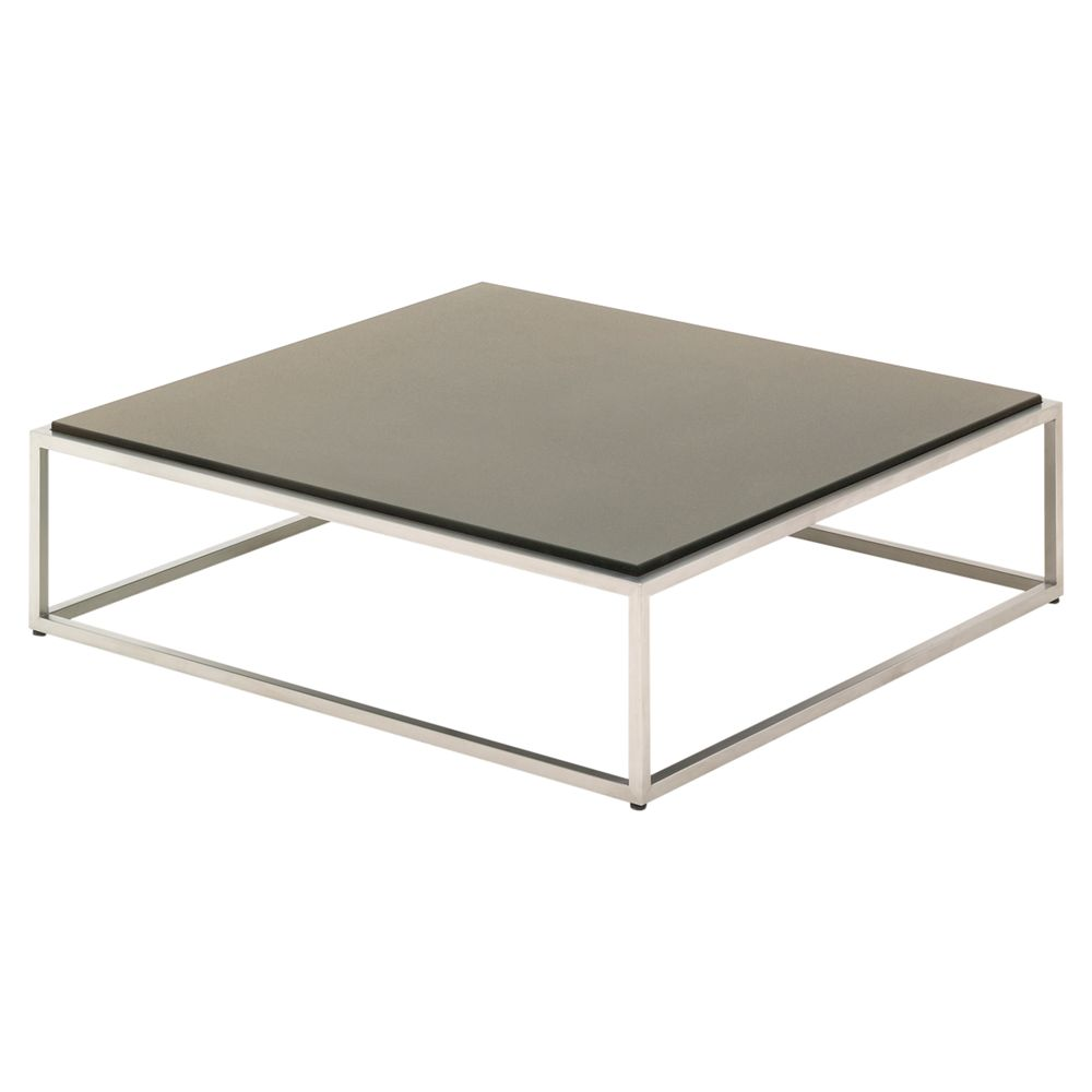 Gloster Cloud Square Outdoor Coffee Table, HPL Top, 100 x 100cm, Taupe
