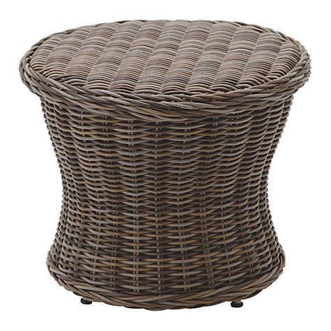 Buy Gloster Havana Round Synthetic Wicker Outdoor Side Table Online at johnlewis.com
