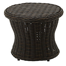 Buy Gloster Havana Round Outdoor Side Table, Synthetic Wicker, Dia.57cm Online at johnlewis.com
