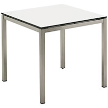 Buy Gloster Kore Square 4 Seater Outdoor Dining Table, White HPL Online at johnlewis.com