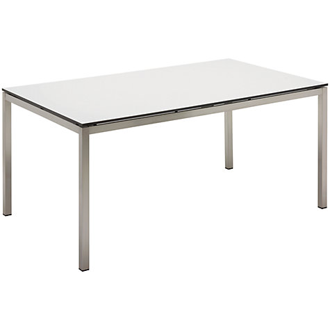 Buy Gloster Kore Rectangular 6 Seater Outdoor Dining Table, White HPL Online at johnlewis.com