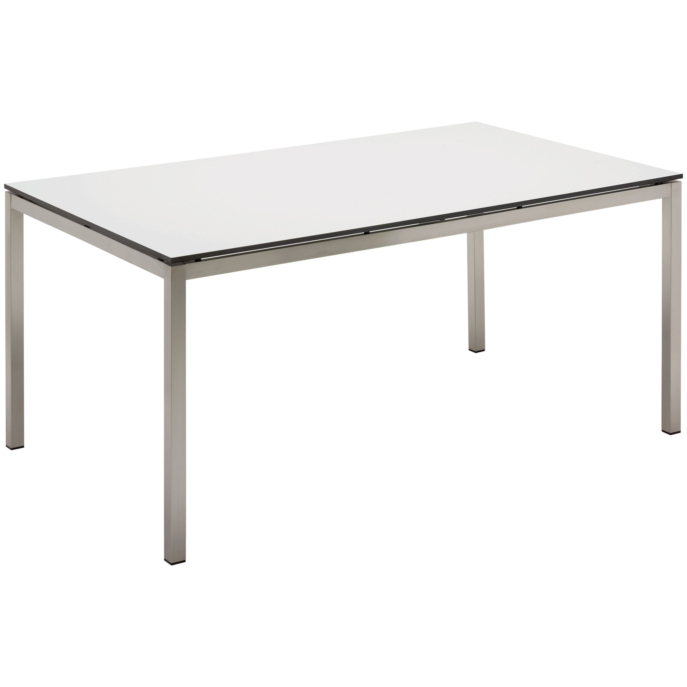 Gloster Kore Rectangular 6 Seater Outdoor Dining Table, White HPL