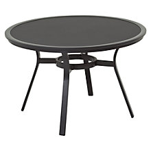 Buy Gloster Roma Round 4 Seater Outdoor Dining Tables, HPL Top Online at johnlewis.com