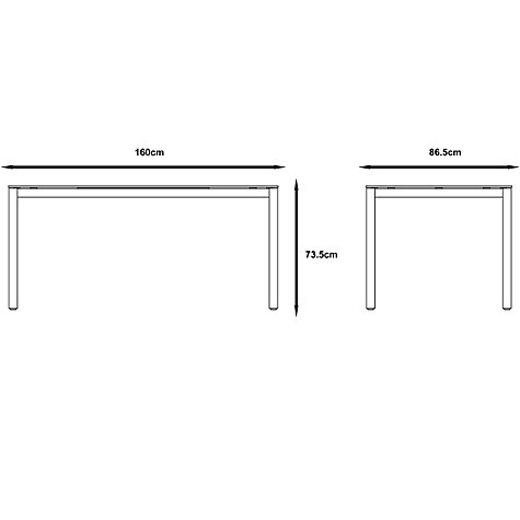 Buy Gloster Roma Rectangular 6 Seater Outdoor Dining Table Online at johnlewis.com