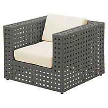 Buy Gloster Linea Modular Outdoor Lounge Chair, Canvas Online at johnlewis.com