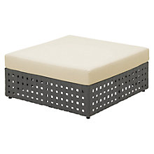 Buy Gloster Linea Modular Outdoor Ottoman Unit, Canvas Online at johnlewis.com