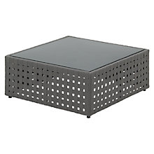Buy Gloster Linea Modular Square Outdoor Coffee Table, Gunmetal, 101 x 101cm Online at johnlewis.com