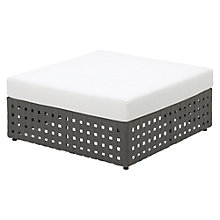 Buy Gloster Linea Modular Waterproof Outdoor Ottoman Unit, Ivory Online at johnlewis.com