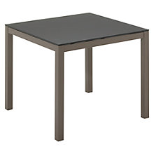 Buy Gloster Riva Square 4 Seater Outdoor Dining Table, Slate Glass / Russet Online at johnlewis.com