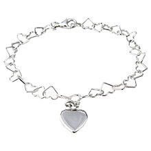 Buy Tales From The Earth Sterling Silver Linked Heart Bracelet Online at johnlewis.com