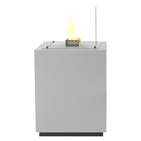 Buy Decoflame 17130 Monaco Square Tower Bioethanol Fire, White Online at johnlewis.com