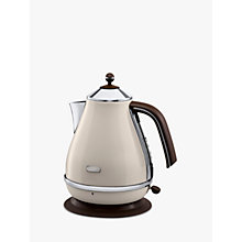 Buy De'Longhi KBOV3001BG Vintage Icona Kettle, Cream Online at johnlewis.com