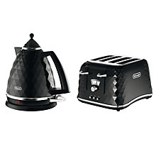 Buy De'Longhi Brilliante Kettle and 4-Slice Toaster, Black Online at johnlewis.com