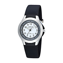 Buy Lorus R2305FX9 Boys' Illuminator Sports Watch, Black Online at johnlewis.com