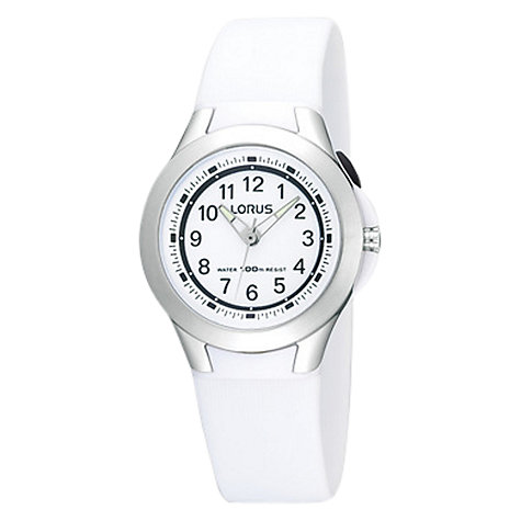 Buy Lorus R2309FX9 Children's Sports Watch, White Online at johnlewis.com