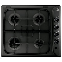 Buy Indesit PIM640ASBK Gas Hob, Black Online at johnlewis.com