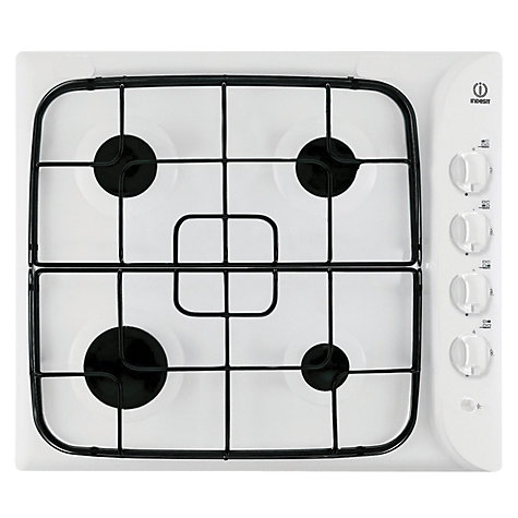 Buy Indesit PIM640ASWH Gas Hob, White Online at johnlewis.com