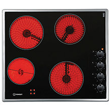 Buy Indesit VRM640MIX Ceramic Hob, 60cm Wide, Black Online at johnlewis.com