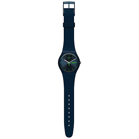 Buy Swatch LR122C Unisex Originals Plastic Strap Watch, Black Online at johnlewis.com