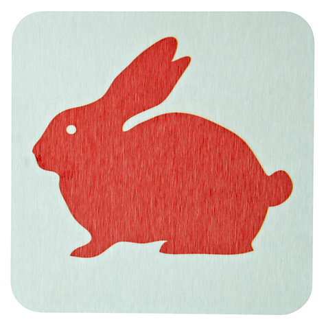 Buy Anorak Rabbit Coasters, Set of 4 Online at johnlewis.com
