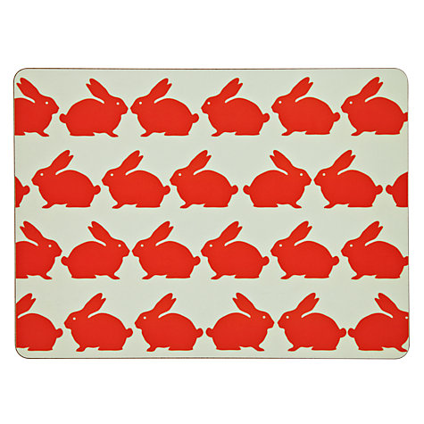 Buy Anorak Kissing Rabbits Placemats, Set of 4 Online at johnlewis.com