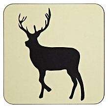 Buy Anorak Stag Coasters, Set of 4 Online at johnlewis.com