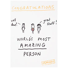 Buy Woodmansterne 'World's Most Amazing' Congratulations Card Online at johnlewis.com