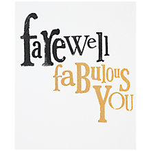 Buy Really Good Farewell Greeting Card Online at johnlewis.com