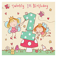 Buy Twizler Fairy Birthday Card, Age 1 Online at johnlewis.com