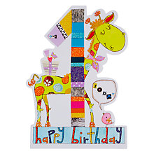 Buy Rachel Ellen Birthday Card, Age 1 Giraffe Online at johnlewis.com