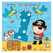 Buy Twizler Pirate Birthday Card, Age 1 Online at johnlewis.com
