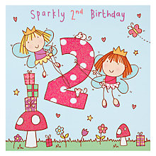 Buy Twizler Fairy Birthday Card, Age 2 Online at johnlewis.com
